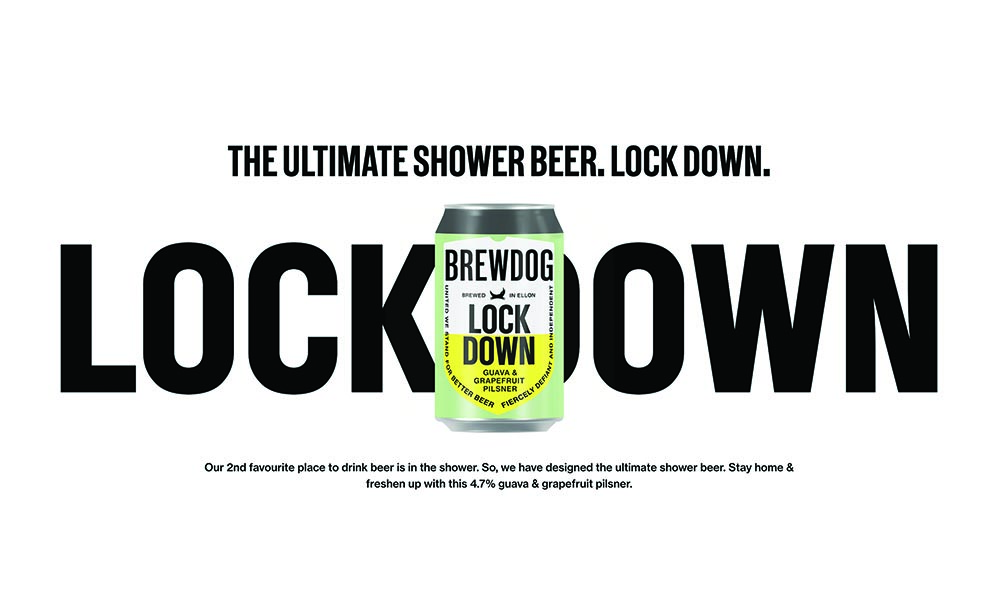 Happy News Brewdog Launch Lock Down Lager The Ultimate Shower Beer The Great British Entrepreneur Awards Community