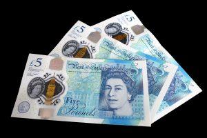five pound note, cash, money